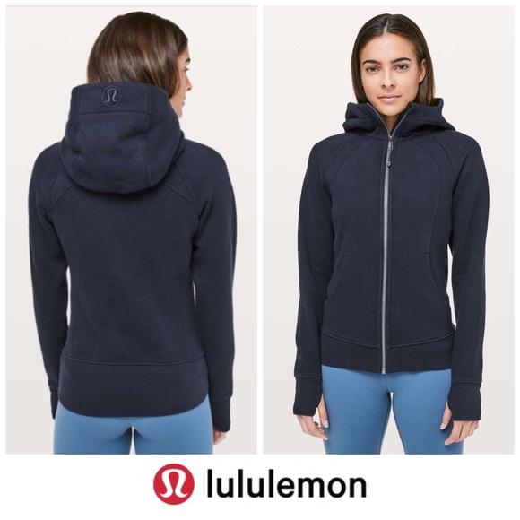 Lululemon   Scuba Hoodie *Light Cotton Fleece Navy
